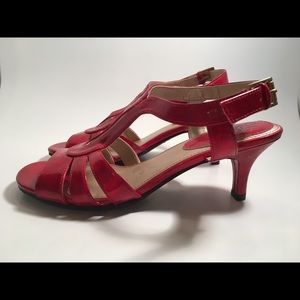 New Life Stride Lush Red Sandal Heels